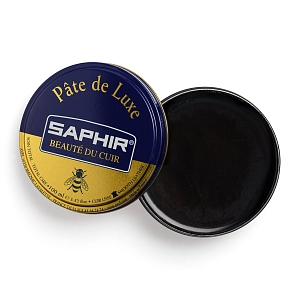 3Картинка Saphir Pate De Luxe, 100ml Black